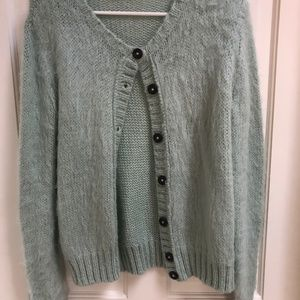 Wooden Ships Mint Cardigan, size S/M